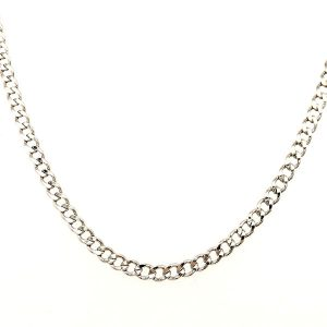 Curblink A Chain White Gold Necklace