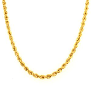 Rope Chain Chinese Gold Necklace