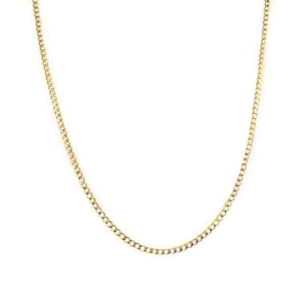Curblink A Chain Yellow Gold Necklace